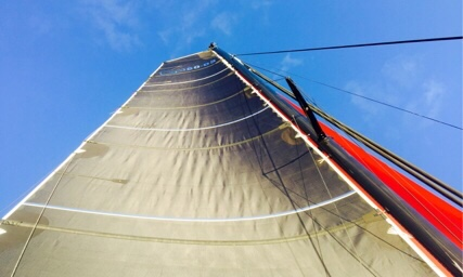 Carib1500 sails up