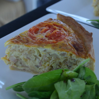 Fresh Quiche for lunch