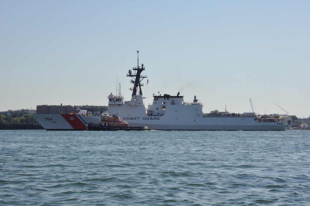 Big US Coast Guard Ship coming to Boston