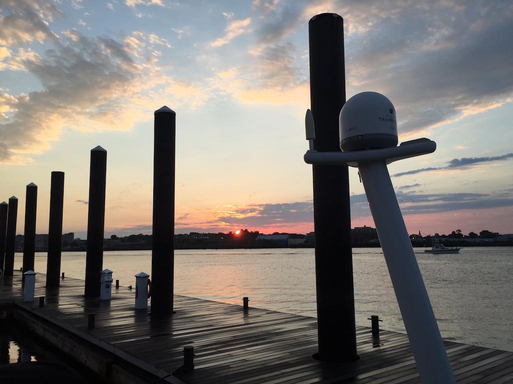New England July 2016 Boston Charlestown Marine sunrise