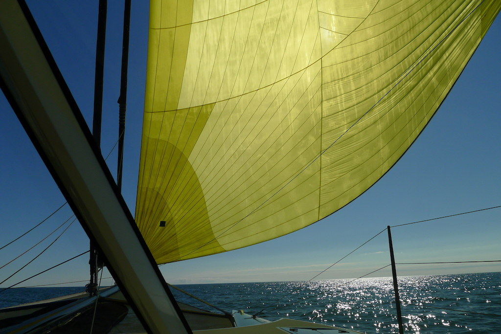 New England July 2016 - yellow spinnaker