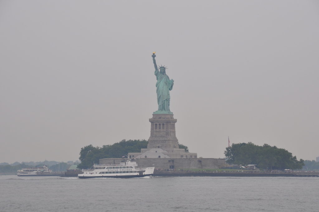Sailing next to the Statue of Liberty - definitively on my bucket list