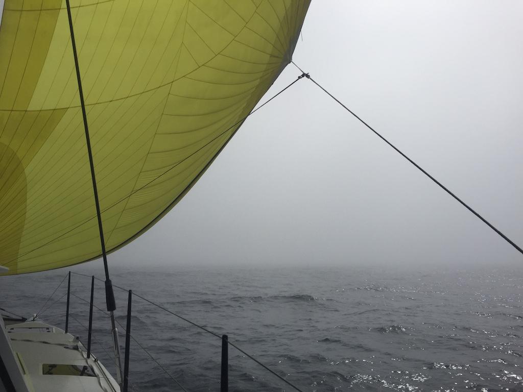 Transat Spinnaker in the Fog