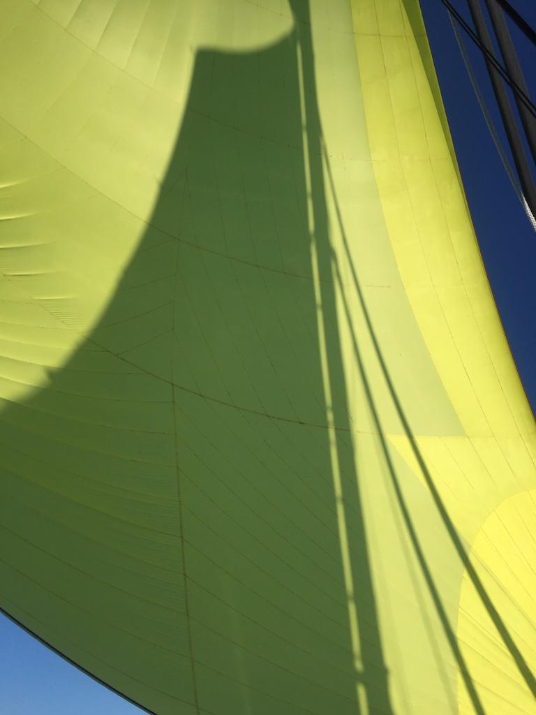 Transat Yellow Spinnaker Main Sail Shadow