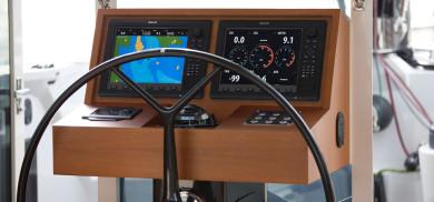carbon catamaran steering