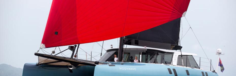 catamaran in action