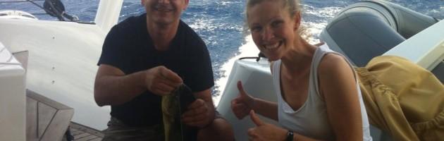 fishing on board