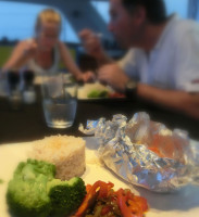 seafood meal on board