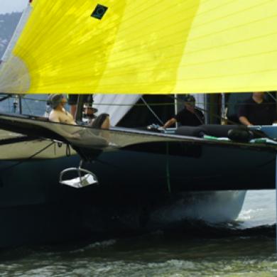 catamaran near marina
