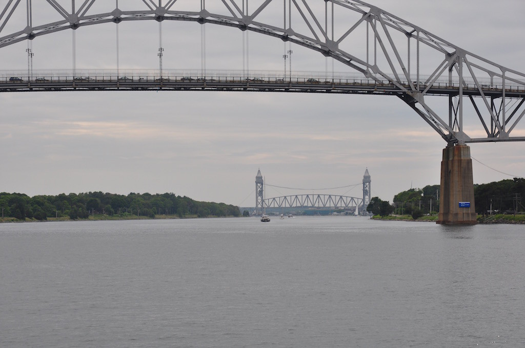 Cape Cod Canal - railway bridge is down