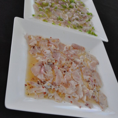 Fresh cought fish and fresh ceviche on board