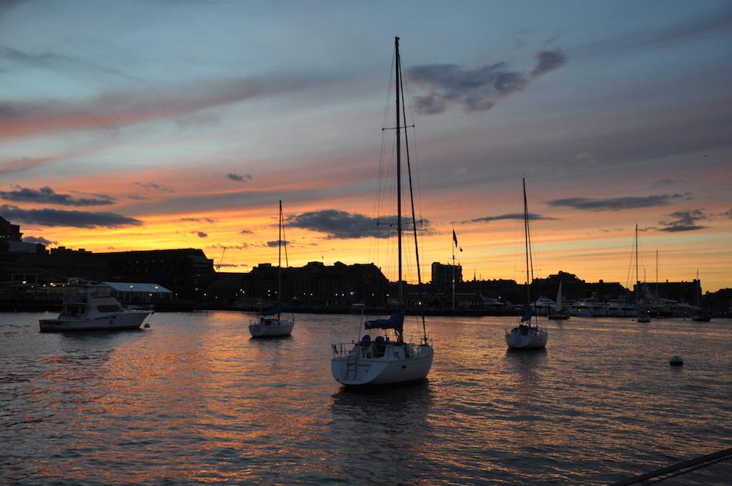 Boston sunrise anchorage