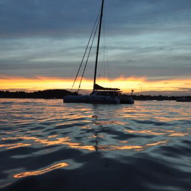 Amazing sunrise Boston islands