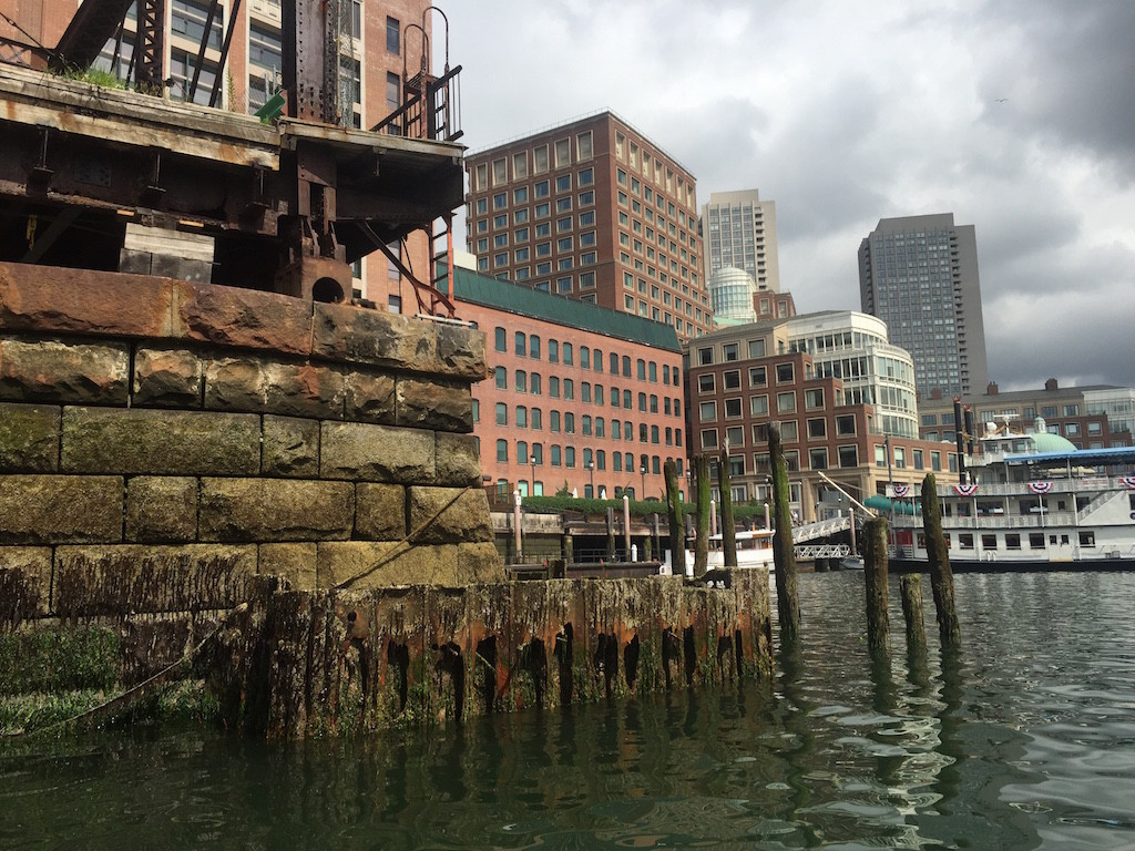 Around the corner from Rowes Wharf (Boston)