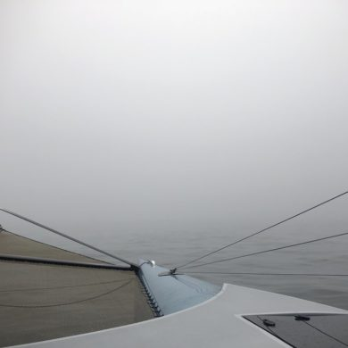 Thick fog - difficult navigation