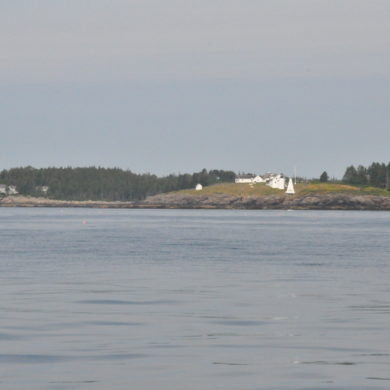 Beautiful shoreline of Maine - lighthouse