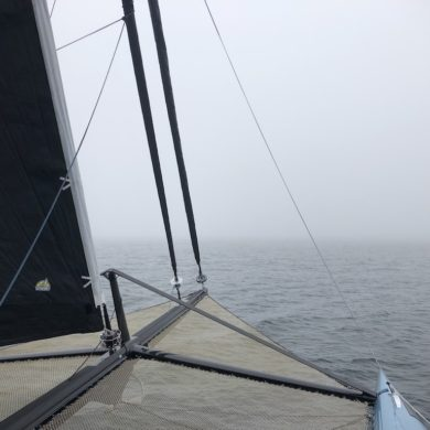 Foggy sailing in Maine