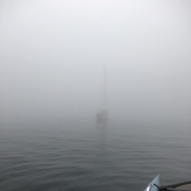 [Maine July 2018] Sailboat in the fog - it's magic