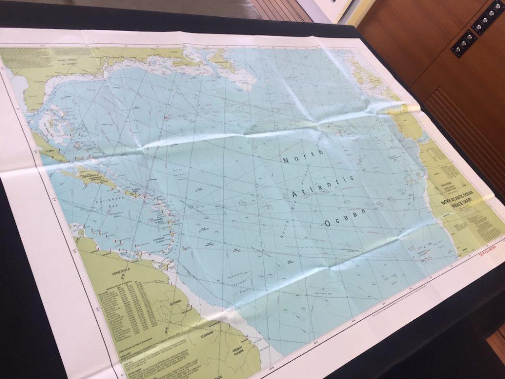 North Atlantic Ocean Paper Chart