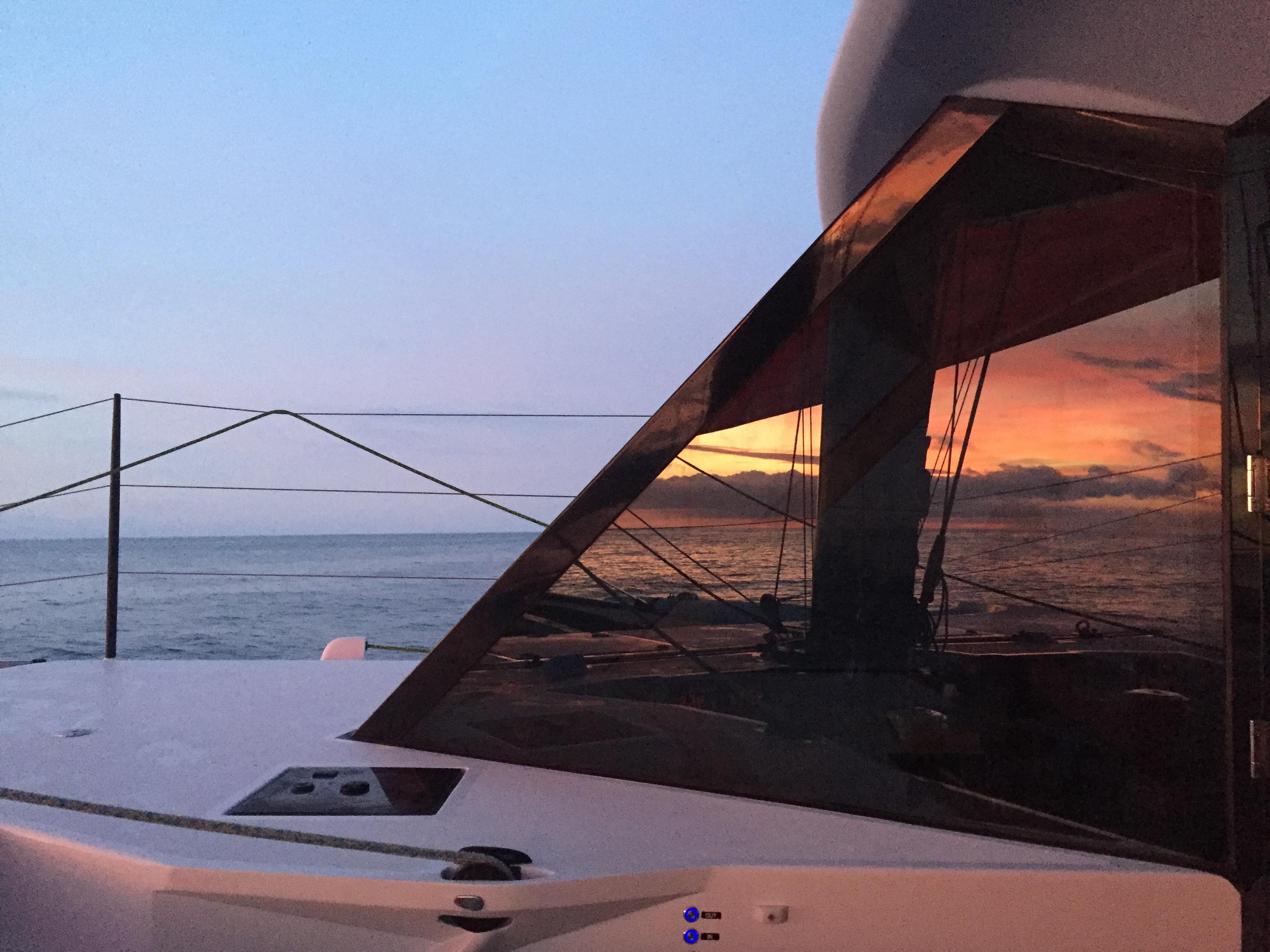 Transat Sunrise reflection