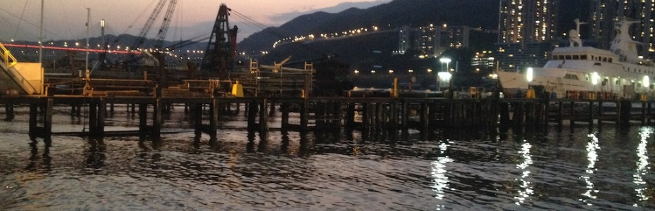 Tsing Yi Docks by night